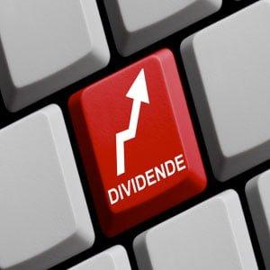 Cours l'évolution du dividende sur des compagnies réelles